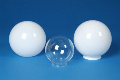Globes are Available in Many Sizes and in White or Clear